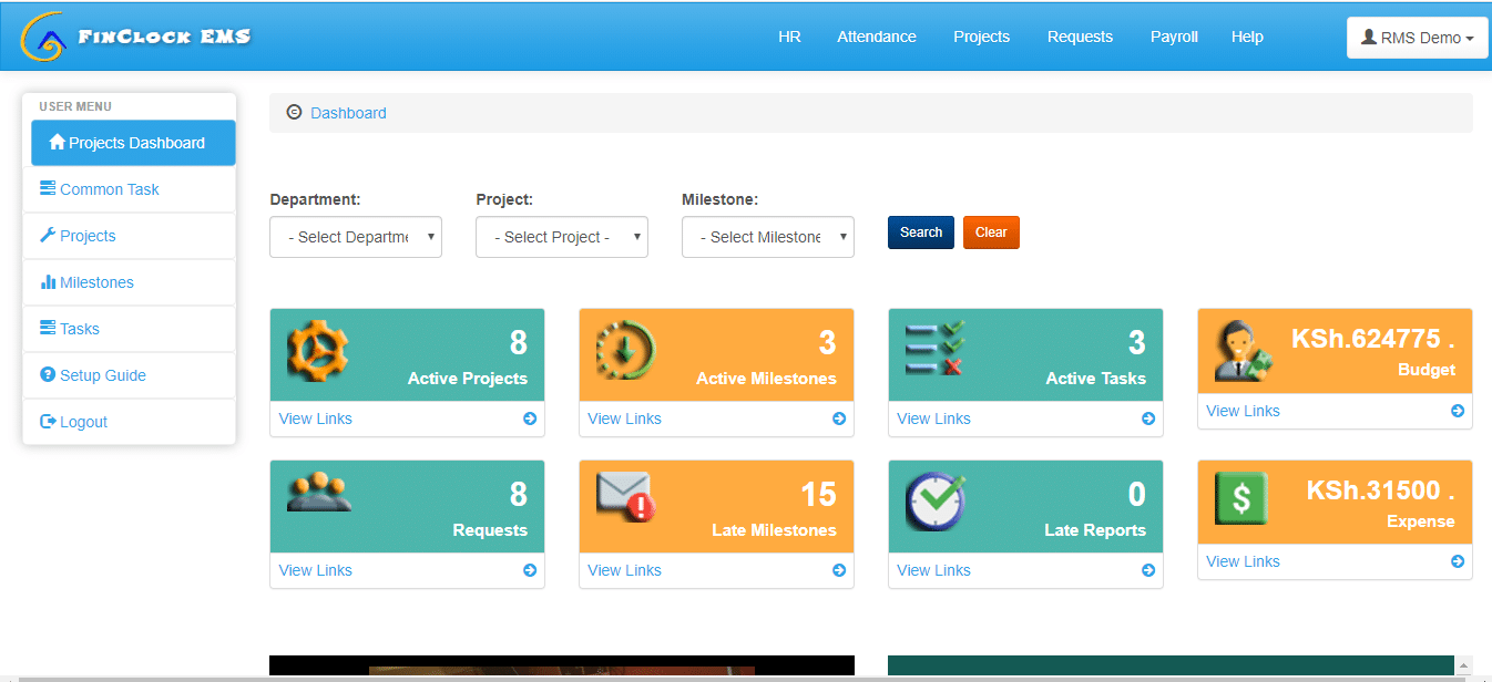 projects management system
