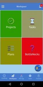work management system, project management app, task management app, work reporting app, employee work management app, app for workers